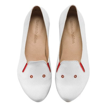New! Charlie, White shoes, Flats, Leather Shoes