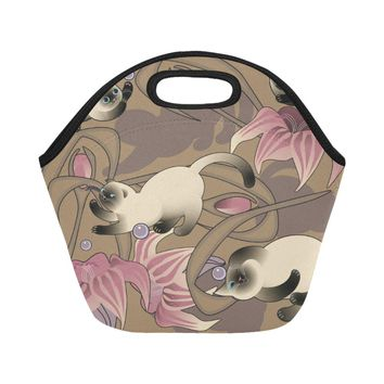 cut cat Neoprene Lunch Bag/Small (Model 1669)