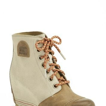 Women's SOREL '1964 Premium Canvas' Waterproof Wedge Bootie,