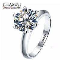 Real Pure White Gold Ring 18KRGP Stamp Rings Set 3 Carat CZ Diamant Wedding Rings For Women RING SIZE 5 6 7 8 9 10 11 AR168