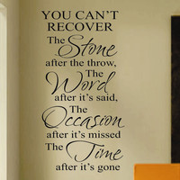 Recover Word Time Quote | Vinyl Wall Lettering | Wall Decals