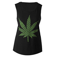 Miley Cyrus Official Store | Smokin' Leaf Muscle Tank