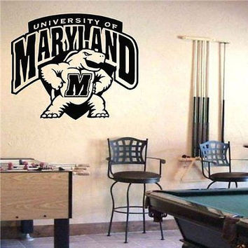 NCAA Maryland Terrapins Logo Emblem Wall Art Sticker Decal (S381)