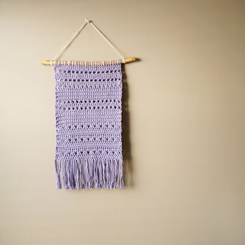 Bohemian cotton wall hanging modern tapestry gypsy fringe decor
