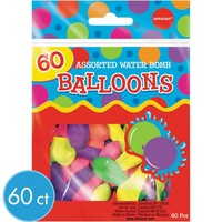 Water Bomb Balloons Assortment 60ct