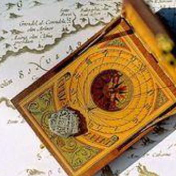 Old Compass, Map, Coin