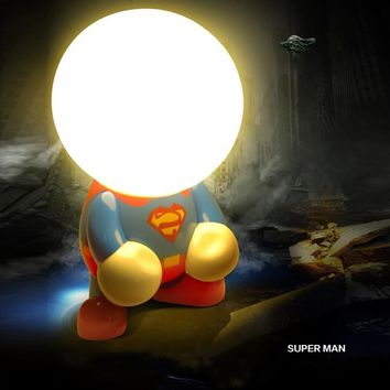 Super Hero LED Night Light Creative Table Lamp USB Charger