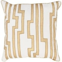 Medina Gold On Ivory Velvet Pillow