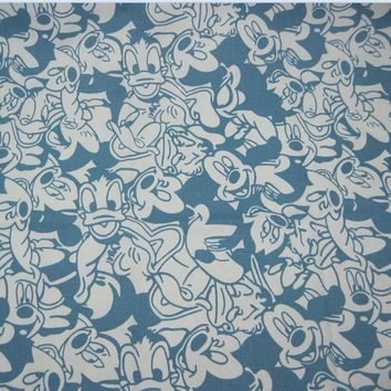 Lt. Blue Mickey Mouse Fabric 140*50cm 1pc 100%Cotton Fabric Patchwork Telas Mickey Mouse/Donald Duck Print Diy Sewing Clothing