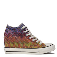 Missoni for Converse Chuck Taylor All Star Lux Mid Top Sneaker Wedges in Periwinkle