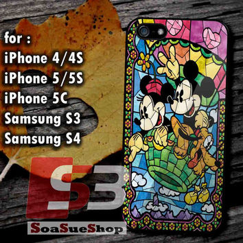 Disney, Mickey Mouse - Hard Plastic and Rubber Case for iPhone 4/4S, 5/5S, 5C And Samsung Galaxy S3, S4
