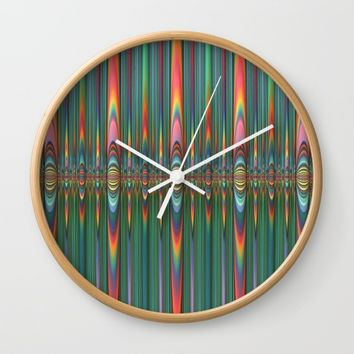 Mirrored Flames Wall Clock by Lyle Hatch