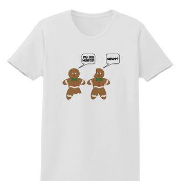 Funny Gingerbread Conversation Christmas Womens T-Shirt