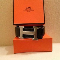 Black Hermes Belt