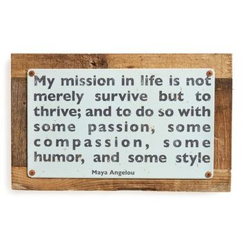 Poncho & Goldstein My Mission Wall Art | Nordstrom