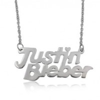 Stainless Steel Justin Bieber Link Chain Necklace 23.4 Inches