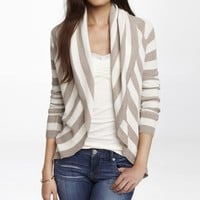 STRIPED RIBBED COCOON COVER-UP