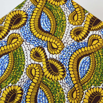 Hollandaise Wax fabric Abstract pattern by yard