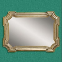 Bassett Mirror Old World Angelica Wall Mirror in Silver and Gold