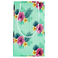 Cool Pink floral texture Small Gift Bag