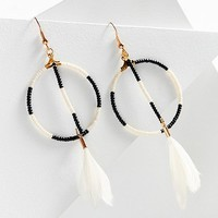 Fiona Paxton Sunray Beaded Hoop Drop Earring | Urban Outfitters