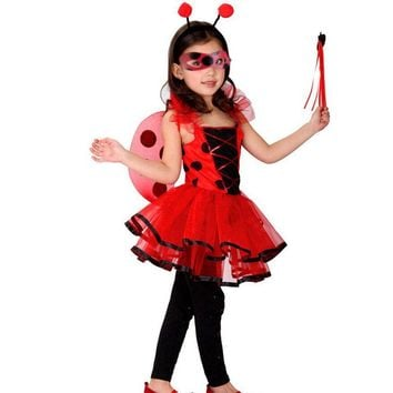 Miraculous Girls Dresses Ladybug Cosplay Casual Dress For Girls Clothes Children Clothing Costumes Kids Dresses Clothes 4pcs/set