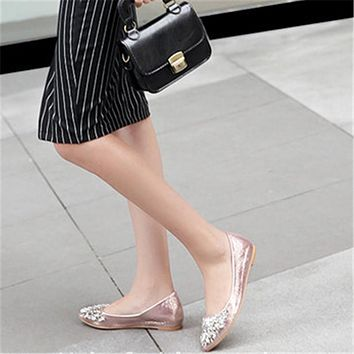 New women's shoes spring single shoes female pointed flat shoes