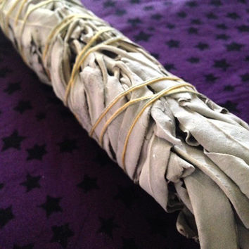 Copal & White Sage Smudge Wand 10inches, Cleansing, Purification, Detox, Meditation, Healing, Positive Energy Free Shipping