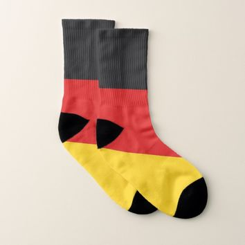 All Over Print Socks with Flag of Germany