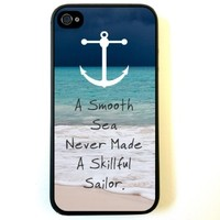 Beach Anchor Smooth Sea Silicone Case for Iphone 4/4s Case