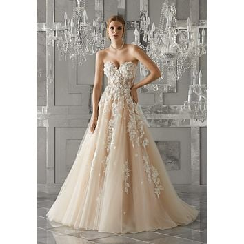 Morilee 8171 Meadow Strapless Soft Tulle Ball Gown Wedding Dress