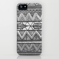 Sketching Feathers iPhone & iPod Case by Pink Berry Pattern