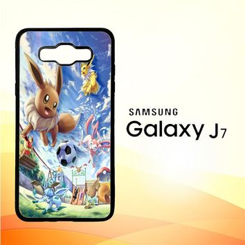Eevee And Umbreon And Espeon X0915 Samsung Galaxy J7 Edition 2015 SM-J700 Case