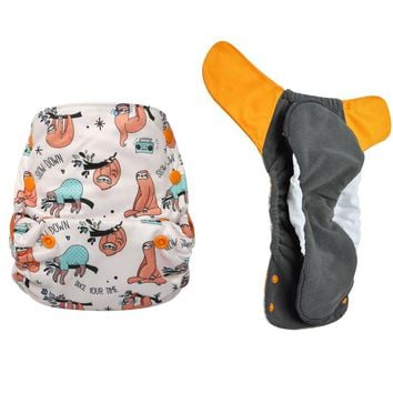 JinoBaby charcoal bamboo aio couche lavable - cloth diaper baby for Babies