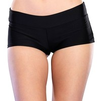 Leg Avenue Black Hotpants : Spandex Booty Shorts from RaveReady