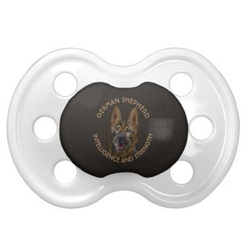 Abstract German Shepherd Dog BooginHead Pacifier
