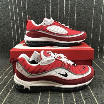 "... for b232b 86ab8  Nike Air Max 98 OG ""Gym Red"" Sports Running Shoes -  Best Deal On ... 3742f6c47977"