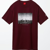 Visual by Van Styles - Jason Peterson City Series T-Shirt - Mens Tee - Maroon