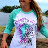 Nobody's Girl Baseball Tee