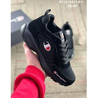Champion 2019 new mesh breathable men's sports running shoes Black