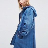 ASOS | ASOS Parka in Washed Denim at ASOS