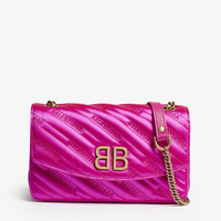 BALENCIAGA Satin neon purse