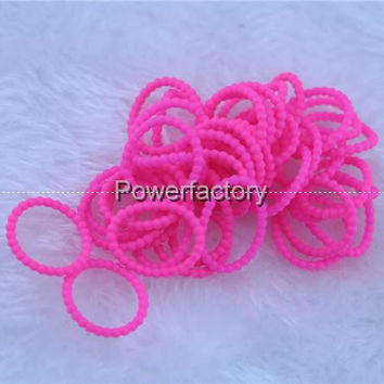 beads pearl loops rainbow loom bands DIY refill Silicone bands charm bracelets (300pcs band +12PCS C or S-clip ) dhl free