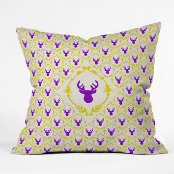 Bianca Green Oh Deer 1 Throw Pillow