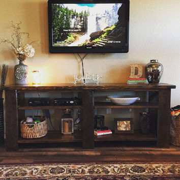 Rustic Farmhouse Console, Media Center, TV Entertainment Center