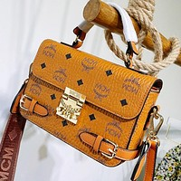 MCM Home 20ss spring and summer new messenger bag Patricia crossbody bag brown
