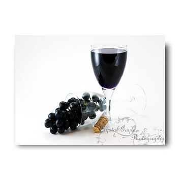 Wine Gift Fine Art Photography Home Decor Wine Glass Wine Bottle Cork Grapes Winery