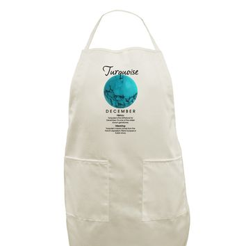 Birthstone Turquoise White Plus Size Apron by TooLoud