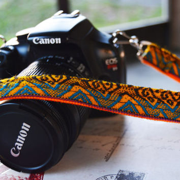 Peruvian Camera Strap with End Clips