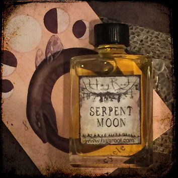 SERPENT MOON (Vanilla, Rose, Leather, Sweet Orange,  Tea Leaves, Tobacco, Ginger, Cedar, Bergamot, Tonka Bean, Musk, Patchouli) Perfume Oil